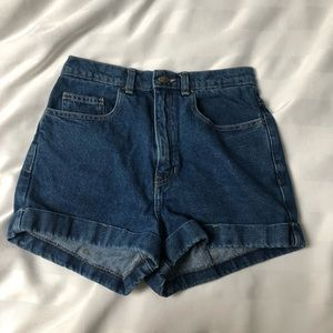 American Apparel High Waisted Denim Shorts size 28